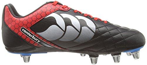 Canterbury Stampede Club 8 Stud - Zapatillas de rugby Hombre Negro (989)