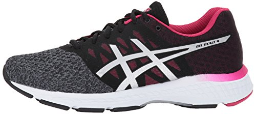 413n7IownaL ASICS Women's Gel-Exalt 4 Running Shoe, Carbon/Silver/Cosmo Pink, 7.5 Medium US