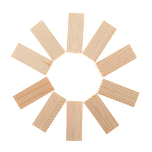 SM SunniMix 10/5 Pieces Natural Unfinished Wood Rectangle Wooden Sticks for Woodcrafts Woodworking Supplies DIY Craft 50/80/100mm - 20x20x50mm