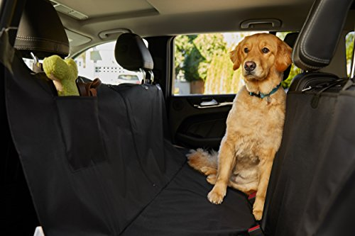 The Original GORILLA GRIP (TM) Non-Slip Pet Car Seat Protector for Pets, Waterproof, Underside Grip (Hammock: Black)