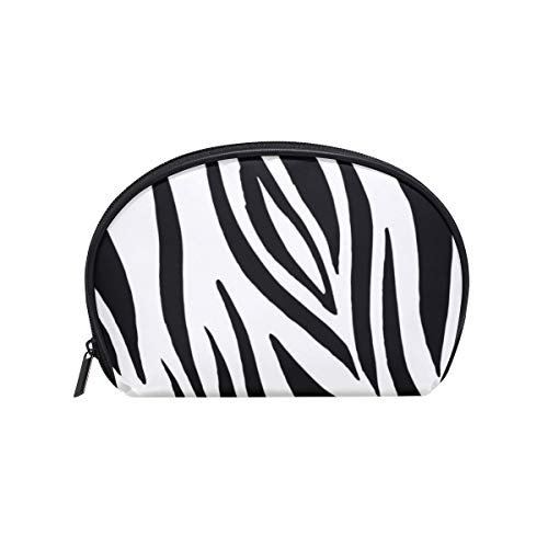 Makeup Bag Animal Print Abstract Zebra Cosmetic Pouch Clutch -