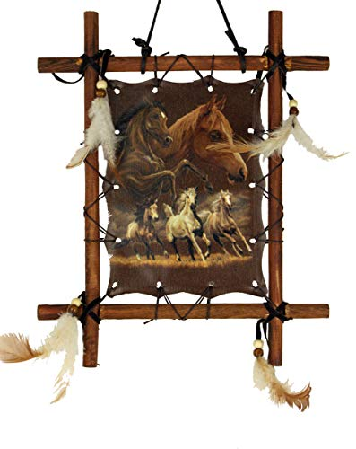 OBI Framed Horse Picture Horses Running Art 9 X 11 inch (Including Frame) Reproduction...