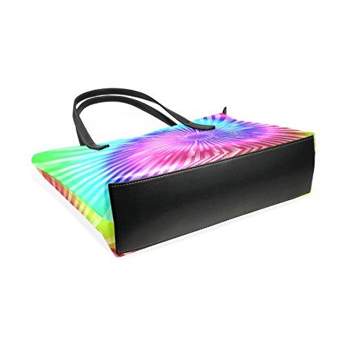 Coosun Tie Dye Farben PU Leder Schultertasche Handtasche und Handtaschen Tasche für Frauen