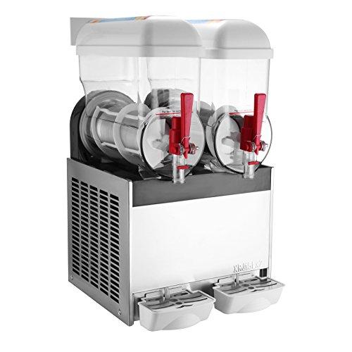 Granita Machine (Happybuy Slushy Machine 15Lx2 Tanks Frozen Drink Machine 400W Commercial Smoothie Maker Slushy Making Machine Suitable for Commercial Use (15L x 2 Tank))