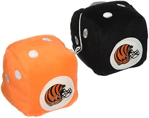 NFL Cincinnati Bengals Fuzzy Dice,one black, one orange w/ - Malls Cincinnati