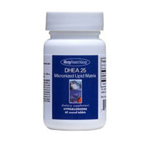 Nutricology/Allergy Research Group DHEA, 25 mg, Micronized Lipid Matrix 60 Tabs (Pack of 4)