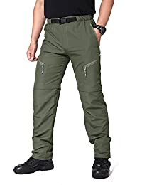 Men's Convertible Quick Dry Hiking Climbing Pants with Adjustable Buckle
