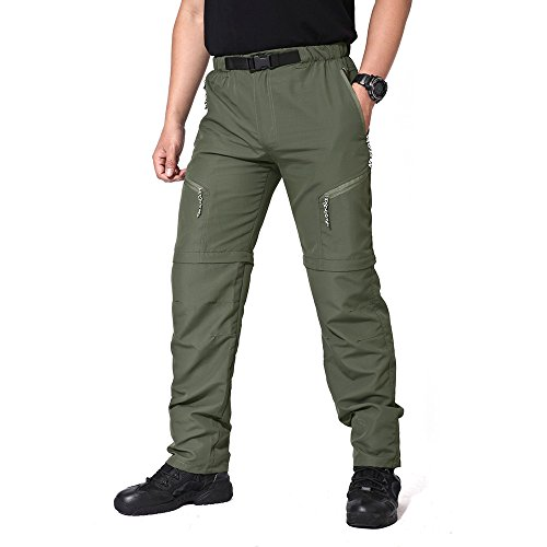 MAGCOMSEN Wild Cargo Pants Outdoor Belted Trousers Hot Pants with Pockets - Belted Cargo Trousers