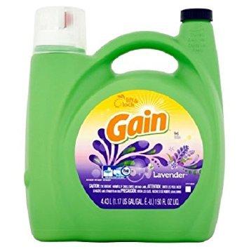 Gain 634261258551 Liquid Laundry Detergent, Lavender Scent,Regular Washer and HE Compatible, 96 Loads, 150 fl oz (1)