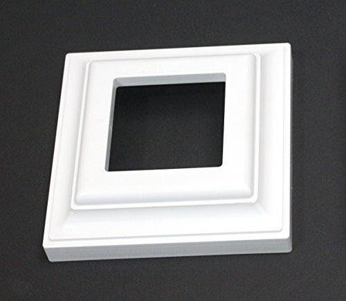 White Plastic Deck Railing Column Post Base Trim Ring 3 x 3 (1) ()