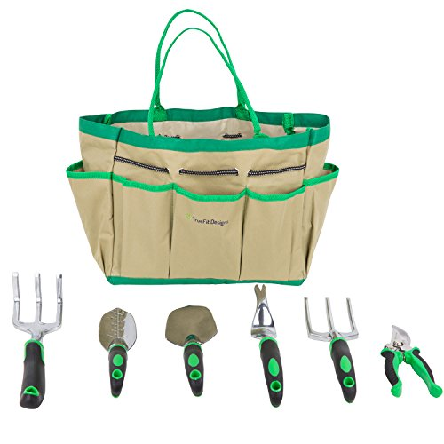 TrueFit-Designs-7-Piece-Garden-Tool-Set-with-Durable-Cast-Aluminum-Heads-plus-Ergonomic-Handles-and-Sizable-Garden-Tote-Bag