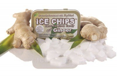 ICE CHIPS Candy Hand Crafted Tin Ginger, 1.76 Ounce