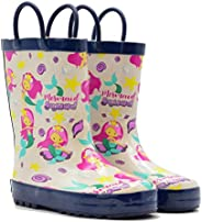 Mucky Wear Children's Rubber Rain Boots Available in Different Colorful Des