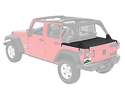 Pavement Ends by Bestop 41829-35 Black Diamond Cargo Cover for Jeep Wrangler JK Unlimited