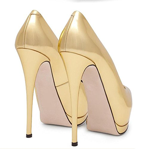 Toe Peep Fish High Platform Yellow Waterproof YC Women Fine Shoes Mouth Yards L Heels Large With Elegant 1I7Pwwgq