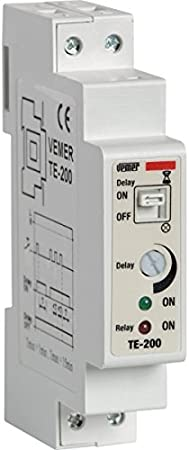 Vemer Vj79720000 Interruptor te-200 Temporizador Luces escaleras electrónico de Barra DIN, Gris Claro: Amazon.es: Bricolaje y herramientas