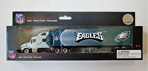 - Press Pass 2010 NFL 1:80 Scale Diecast Tractor Trailer - PHILADELPHIA EAGLES