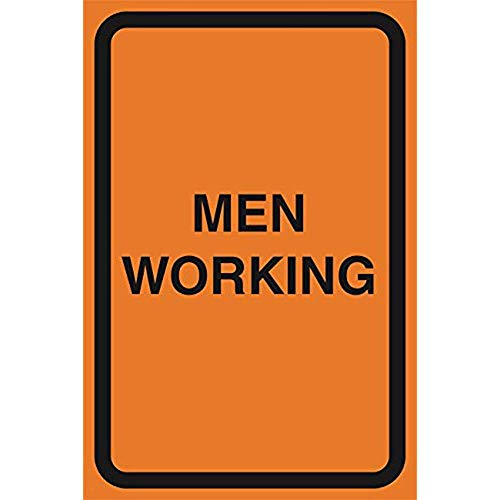 """Diuangfoong Men Working Orange Construction Area Notice Lot Zone Safety Street Road Warning Business Signs Commercial Sign Aluminum Metal Tin 12""""x18"""" Sign Plate from Diuangfoong"""