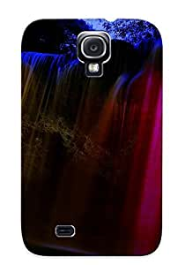 Galaxy S4 Hard Back With Bumper Silicone Gel Tpu Case Cover For Lover's Gift Glowing Waterfall