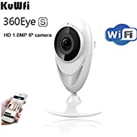 KuWFi Mini Panoramic IP Camera Wireless 720P HD 1.0MP WiFi 180 Degree Panoramic Camera 360eyes IR Night Vision P2P Mini Security Camera