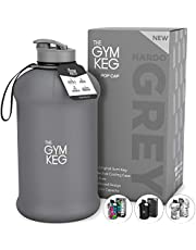 The Gym Keg Sports Water Bottle (2.2 L) Insulated | Half Gallon | Carry Handle | Big Jug Sport, 64oz Hydro Jug, Large Reusable Bottles | Ecofriendly, BPA Free Plastic, Leakproof