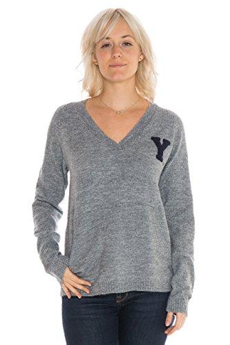 (NCAA BYU Cougars Women's Wool Blend Sweater, Medium, Grey)