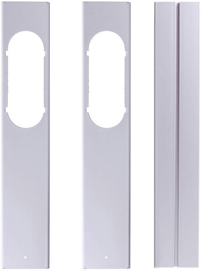 pegtopone Junta De Ventana Universal para Aire Acondicionado Port/átil Placa De PVC Ajustable Adaptador De Manguera Extractora Agujero De Ventana para Manguera De Extracci/ón F/ácil Instalar Impermeable