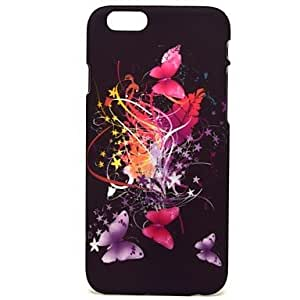 JOE Colorful Big Butterfly Pattern Hard Plastic Back Cover Case for ipone 6