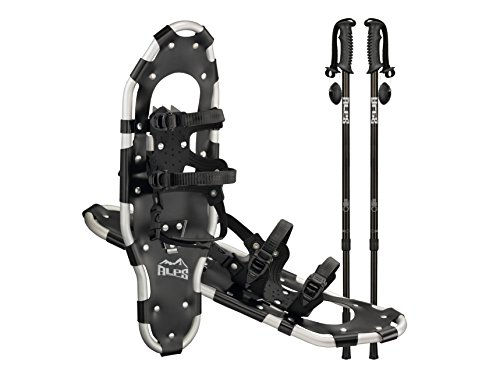 ALPS Performance Snowshoes with Pair Antishock Snowshoes Poles + Free Carrying Tote Bag