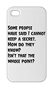 Some people have said I cannot keep a secret. How do they Iphone 5-5s plastic case
