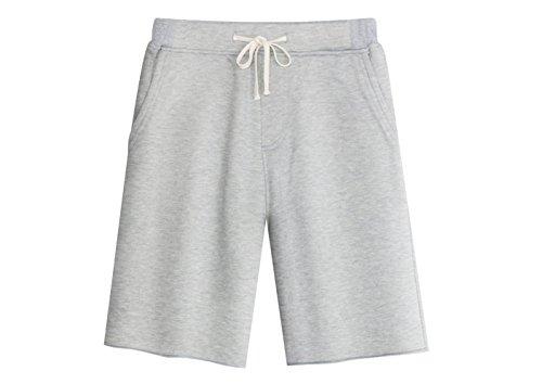 KEYBUR Men's Casual Classic Fit Cotton Elastic Jogger Gym Shorts (L, Light ()