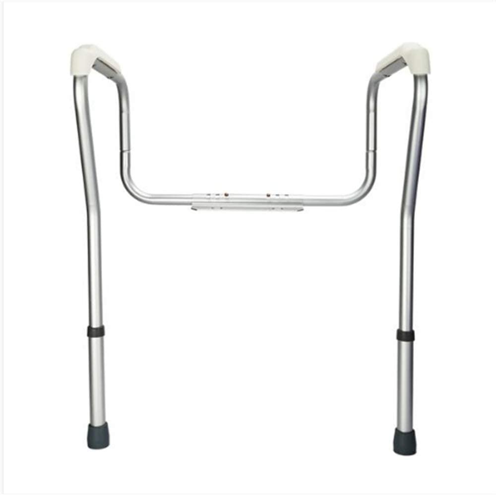 330Lb Capacity Lightweight Aluminum Alloy Anti-Slip Stand Alone Toilet Safety Grab Rail Silver