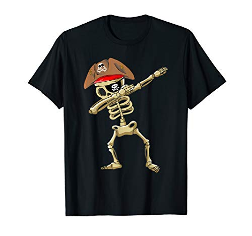 Dabbing Skeleton Pirate T shirt Halloween Costume Gift Idea]()