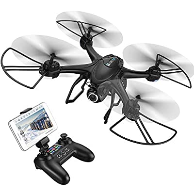 HOBBYTIGER Ranger Drones with 720P HD Camera FPV Live Video and GPS Return Home Function RC Quadcopter for Beginners Kids Adults with Follow Me, Altitude Hold from HOBBYTIGER