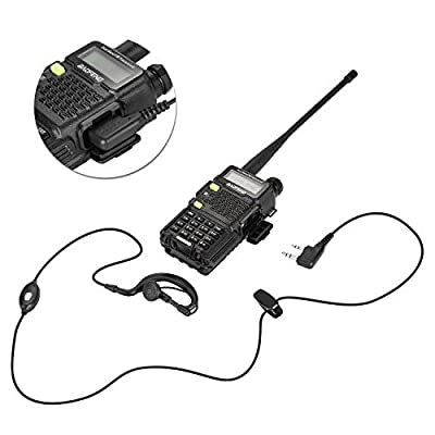 BaoFeng 2-Pack Upgrade UV-5R5 2 Way Radio, VHF UHF Dual-Band Walkie Talkie, Extended 7 inches Antenna(Including),Larger Battery,7.4v 5W More Stable Speaking Distance