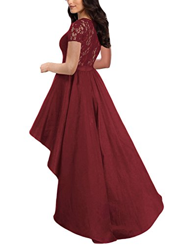 Low Lace Women VISCONTI Black Bodice Dresses Party Evening QUEENIE Dress Burgundy Elegant Prom Hi FxqZw8IFd5
