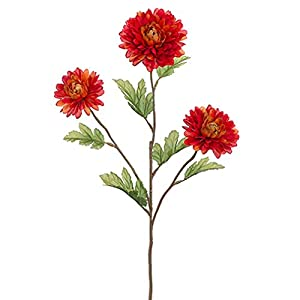 "25"" Silk Garden Mum Flower Spray -Rust (Pack of 12) 35"