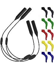 2 Pcs Adjustable Eyewear Retainer & 5 Pairs Anti - Slip Hooks, SENHAI Sports Eyeglasses Strap Holder Ear Hook Grip for Sunglasses, Optical Frame, Reading Glasses