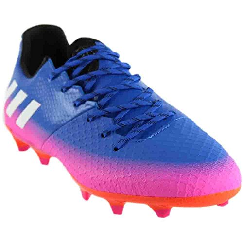 adidas Men's Messi 16.2 Firm Ground Cleats Soccer Shoe, Blue/White/Warning, (10.5 M US)