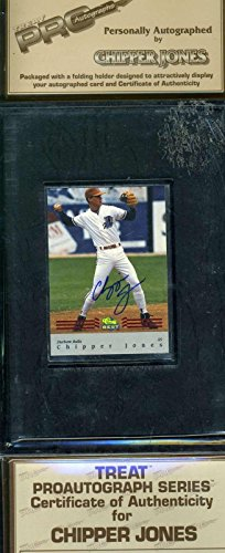 CHIPPER JONES Signed 1993 CLASSIC SEALED BLISTER PACK RARE Authentic Autographed - Baseball Slabbed Autographed Cards