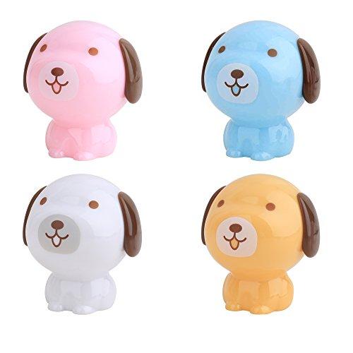 (Comidox 4PCS Cool dog Pencil Sharpener, Color random)