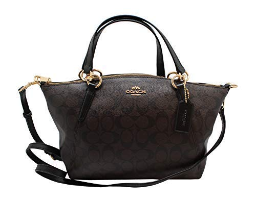 Coach Women's Small Kelsey Satchel No Size (IM/Brown/Black) (Coach Duffle Shoulder Bag In Glovetanned Leather)