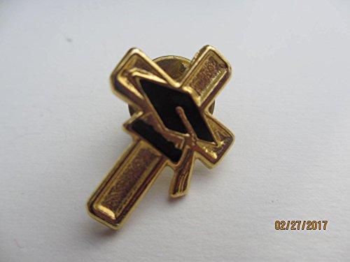 Pretty Gold Tone Faux Onyx Graduation Lapel Pin, Graduation Gift, Graduation Pin
