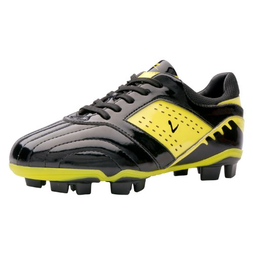 Larcia Soccer Cleat (Little Kid/ Big Kid) (3.5) Black with Neon Yellow