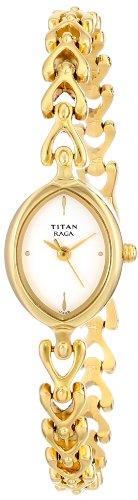 Titan Raga Analog White Dial Women's Watch -NK2370YM01