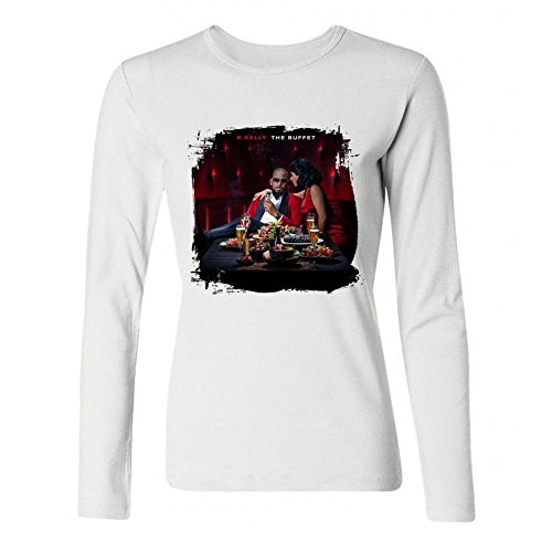 IIOPLO Women's R Kelly Picture Long Sleeve T-shirt White XL -