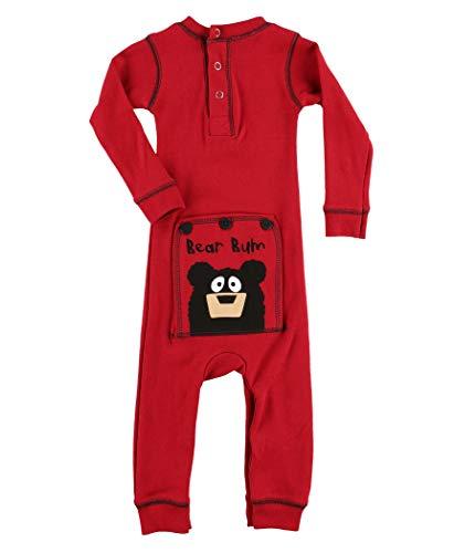 Bear Bum Baby Flapjack Onsie Pajamas by LazyOne | Adult Kid Infant Dog Family Matching Pajamas (18 MO) (Pajamas Bum Bear)