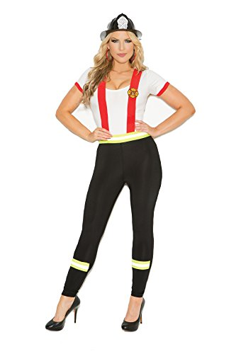 Women's Plus Size Sexy Fire Fighter Adult Role Play Costume ()