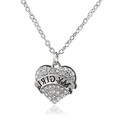 (Florance jones Clear Heart Rhinestone Pendant Mothers Gift Necklace Sister Women Charm Bracelet | Model BRCLT - 47505 |)