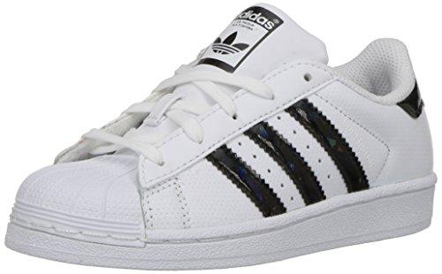 adidas Superstar J, Scarpe per Bambini, Ragazzo White/Core Black/White